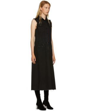 photo Black Just Wash Sleeveless Denim Dress by MM6 Maison Martin Margiela - Image 2