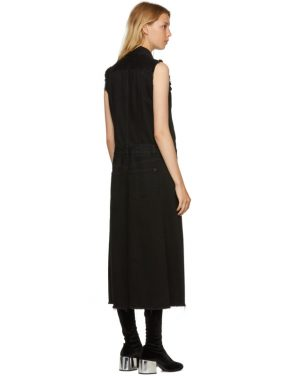photo Black Just Wash Sleeveless Denim Dress by MM6 Maison Martin Margiela - Image 3
