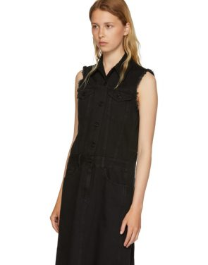 photo Black Just Wash Sleeveless Denim Dress by MM6 Maison Martin Margiela - Image 4