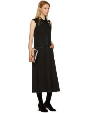 photo Black Just Wash Sleeveless Denim Dress by MM6 Maison Martin Margiela - Image 5