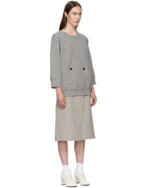 photo Grey and Beige Sweater Dress by MM6 Maison Martin Margiela - Image 2