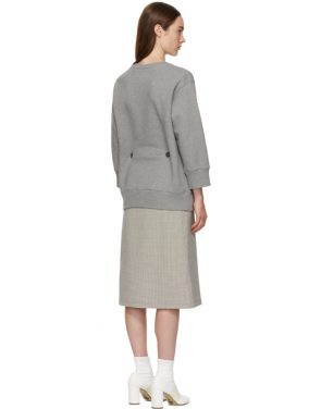 photo Grey and Beige Sweater Dress by MM6 Maison Martin Margiela - Image 3
