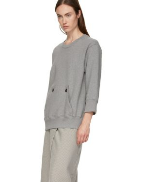 photo Grey and Beige Sweater Dress by MM6 Maison Martin Margiela - Image 5
