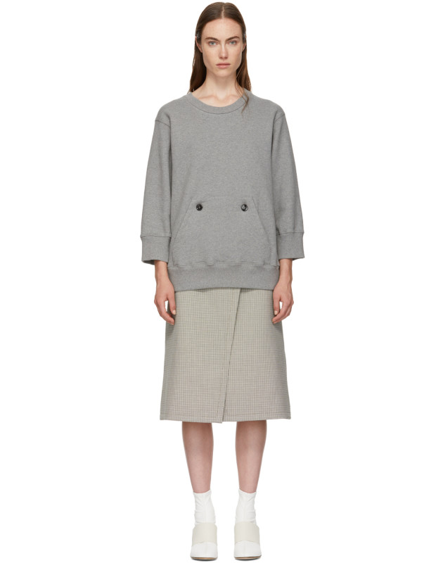 photo Grey and Beige Sweater Dress by MM6 Maison Martin Margiela - Image 1