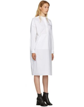 photo White Parachute Poplin Dress by MM6 Maison Martin Margiela - Image 2
