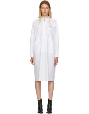 photo White Parachute Poplin Dress by MM6 Maison Martin Margiela - Image 1