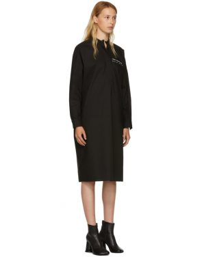 photo Black Parachute Poplin Shirt Dress by MM6 Maison Martin Margiela - Image 2