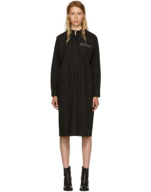photo Black Parachute Poplin Shirt Dress by MM6 Maison Martin Margiela - Image 1