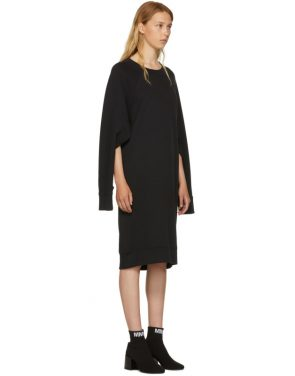 photo Black Basic Cotton Sweatshirt Dress by MM6 Maison Martin Margiela - Image 4
