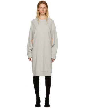 photo Grey Basic Cotton Sweatshirt Dress by MM6 Maison Martin Margiela - Image 1