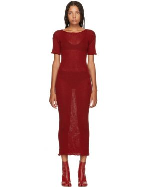 Maxi Dress With Double Thigh Split And Lace Trim By Naanaa