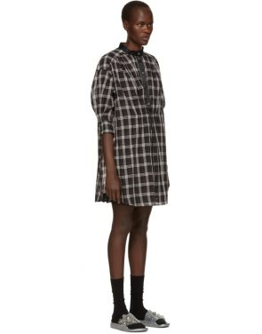 photo Black and White Plaid Drop Shoulder Dress by Marc Jacobs - Image 2