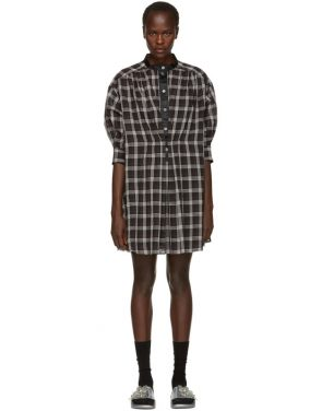 photo Black and White Plaid Drop Shoulder Dress by Marc Jacobs - Image 1