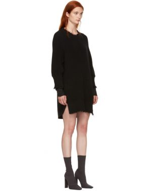 photo Black Hybrid Varsity Sweater Dress by T by Alexander Wang - Image 2