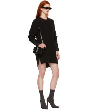 photo Black Hybrid Varsity Sweater Dress by T by Alexander Wang - Image 5