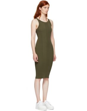 photo Green Visible Strap Dress by T by Alexander Wang - Image 2