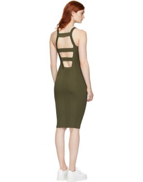 photo Green Visible Strap Dress by T by Alexander Wang - Image 3