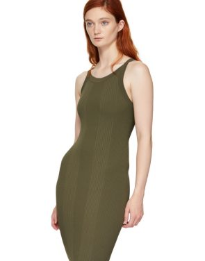 photo Green Visible Strap Dress by T by Alexander Wang - Image 4