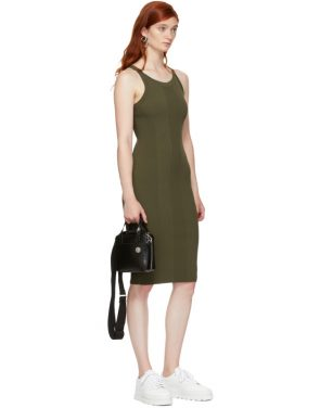 photo Green Visible Strap Dress by T by Alexander Wang - Image 5