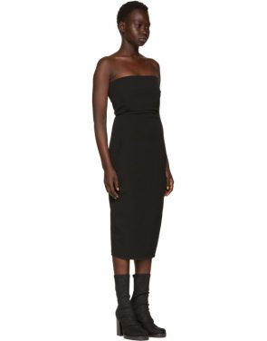 photo Black Grosgrain Bustier Dress by Rick Owens - Image 2