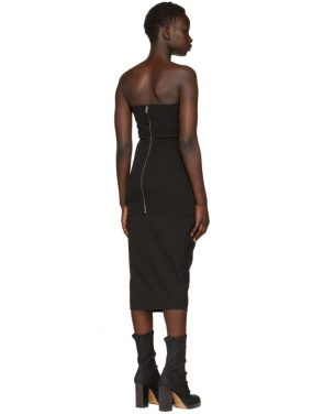 photo Black Grosgrain Bustier Dress by Rick Owens - Image 3