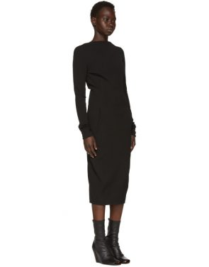 photo Black Grosgrain Maria Dress by Rick Owens - Image 2