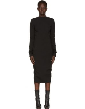 photo Black Grosgrain Maria Dress by Rick Owens - Image 1