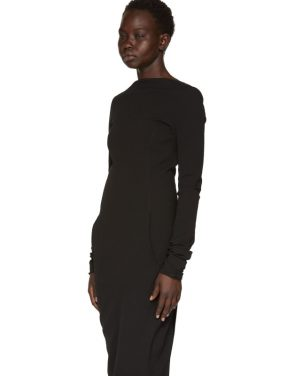 photo Black Grosgrain Maria Dress by Rick Owens - Image 4