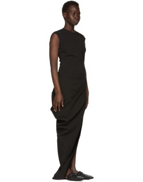 photo Black Grosgrain Walrus Dress by Rick Owens - Image 2