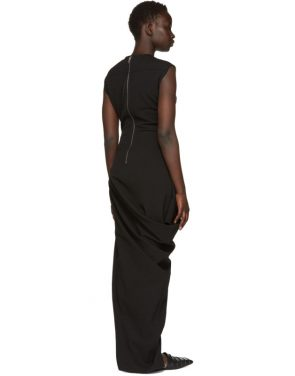photo Black Grosgrain Walrus Dress by Rick Owens - Image 3