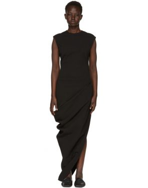 photo Black Grosgrain Walrus Dress by Rick Owens - Image 1