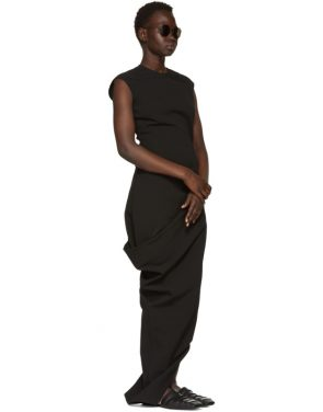 photo Black Grosgrain Walrus Dress by Rick Owens - Image 5