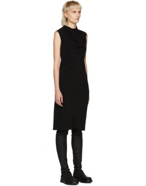 photo Black Bonnie Dress by Rick Owens - Image 2
