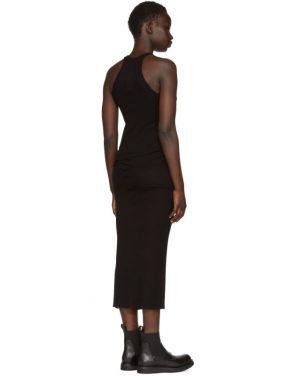 photo Black Basic Silk Rib Tank Dress by Rick Owens - Image 3