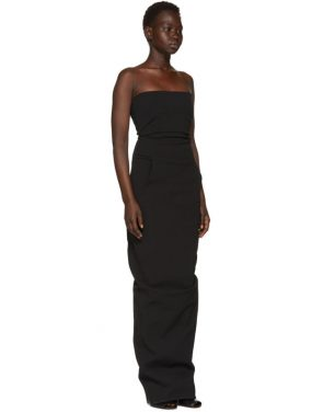 photo Black Grosgrain Bustier Gown by Rick Owens - Image 2