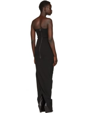 photo Black Grosgrain Bustier Gown by Rick Owens - Image 3