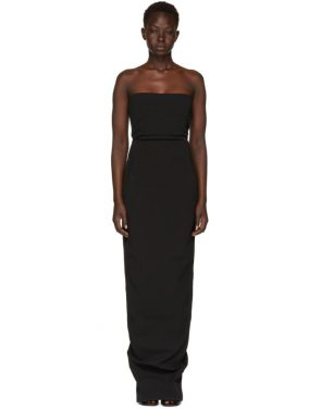 photo Black Grosgrain Bustier Gown by Rick Owens - Image 1