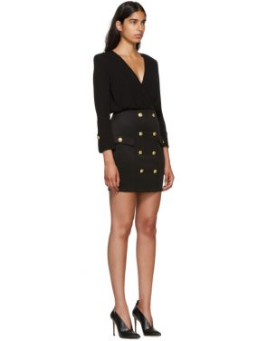 photo Black Jersey Short Dress by Balmain - Image 2