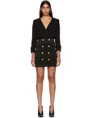 photo Black Jersey Short Dress by Balmain - Image 1