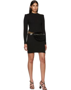 photo Black Long Sleeve Wool Dress by Balmain - Image 5