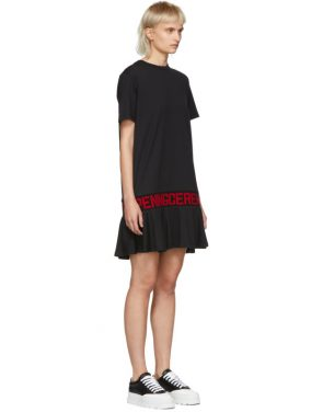 photo Black Elastic Logo T-Shirt Dress by Opening Ceremony - Image 2