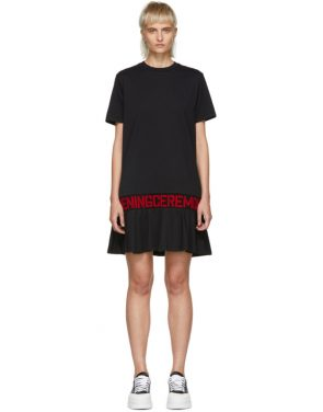 photo Black Elastic Logo T-Shirt Dress by Opening Ceremony - Image 1