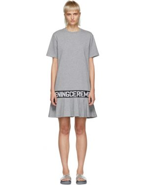 photo Grey Elastic Logo T-Shirt Dress by Opening Ceremony - Image 1