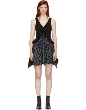 photo Black Plaid Mix Dress by Opening Ceremony - Image 1