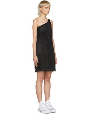 photo Black Mesh One-Shoulder Dress by Opening Ceremony - Image 2