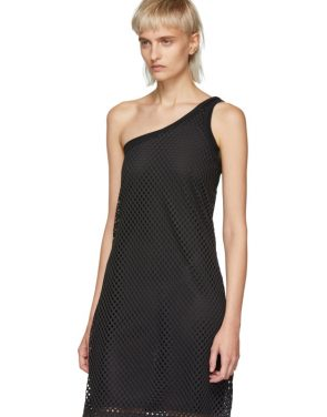 photo Black Mesh One-Shoulder Dress by Opening Ceremony - Image 4