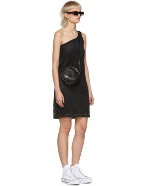 photo Black Mesh One-Shoulder Dress by Opening Ceremony - Image 5