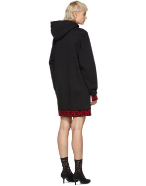 photo Black Elastic Logo Unisex Hoodie Dress by Opening Ceremony - Image 3