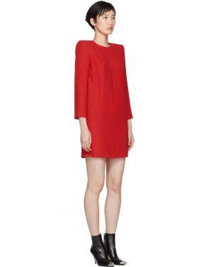 photo Red Mini Shoulder Pads Dress by Givenchy - Image 2