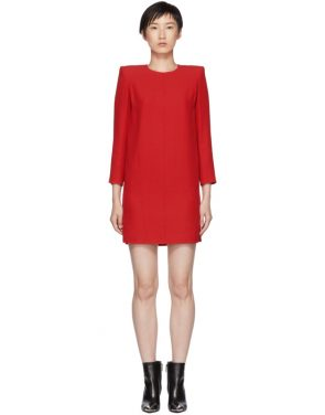 photo Red Mini Shoulder Pads Dress by Givenchy - Image 1